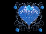 Blue Heart and Roses