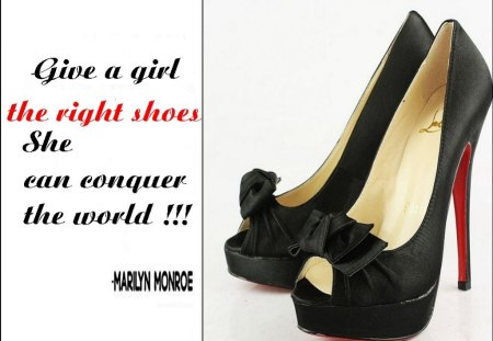 The Shoe Series--A Marilyn Monroe Quote - MM, series, shoes, quote