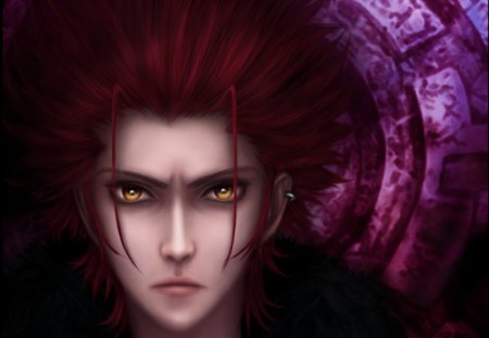 Mikoto Suoh - king, cg, redhead, guy, red king, mikoto suoh, close up, spiky hair, anime, k, handsome, k project, realistic, male, red hair, yellow eyes, boy, 3d, suoh, mikoto