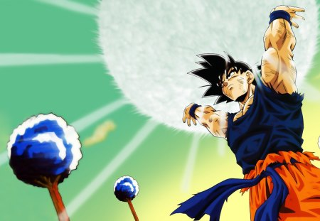 Spirit Bomb - goku, male, dbz, dragonballz, fighter, saiyan, dragonball z, dragonballz kai, spiky hair, dragonball, son goku, anime
