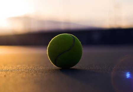 Tennis Ball - Tennis ball, macro, ground, Ball, Tennis