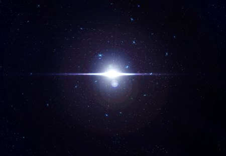 A Glimmer Of Light - deep space, light, A Glimmer Of Light, outer space