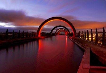 NIGHT CITY - r scotland, city, falkirk, united kingdom, Wallpape, great britain, lights, night