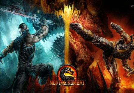 Sub Zero Vs Scorpion Mortal Kombat Video Games Background