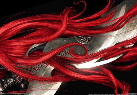 Heavenly Sword - game, heavenly sword, red hair, sword