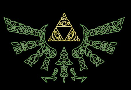 Celtic Hylian Crest - gallic, link, celtic cross, nordic, hyrule, pagan, celtic, north, celts, barbarian, zelda, myth, paganism, nature, cross, viking, hylian