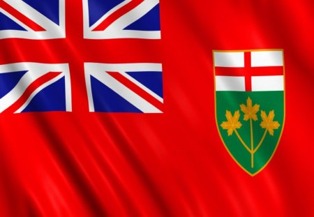 Flag of ontario 3d and cg abstract background wallpapers on desktop nexus image 1358594 - Canada flag 3d wallpaper ...