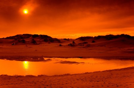 Mars on Earth - beach, sunset, mars