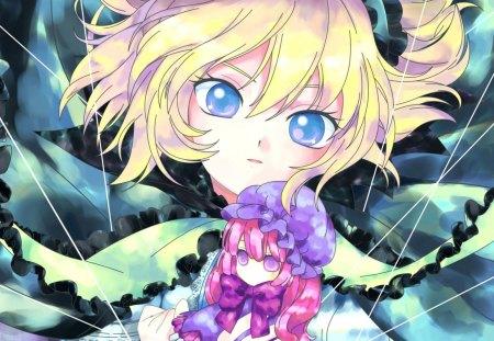 Pretty Doll - colorful, anime, girls, doll