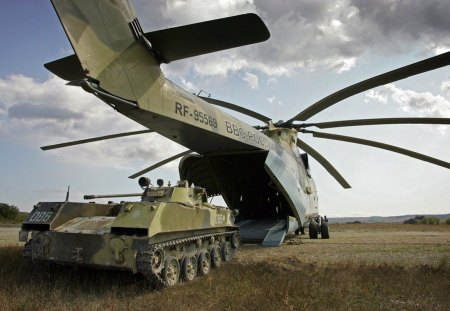 Mil Mi-26 - mil, tank, bvp, russia, helicopter, heli