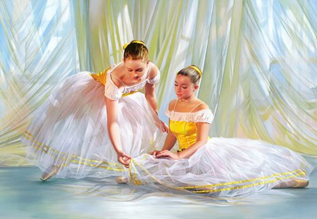 Beautiful Ballerina Girls Oil Painting Other People Background Wallpapers On Desktop Nexus Image 1362127