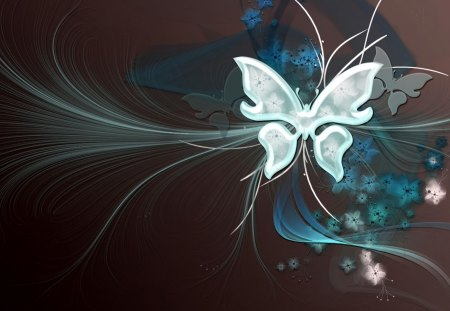 Vector Butterfly - art, lines, butterfly, vector