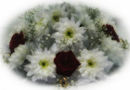 Marriage - flowers, marriage, ring, photo, flower