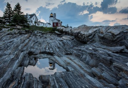 Pemaquid Point Lighthouse - Nature, Coastal, Landscapes, Lighthouses