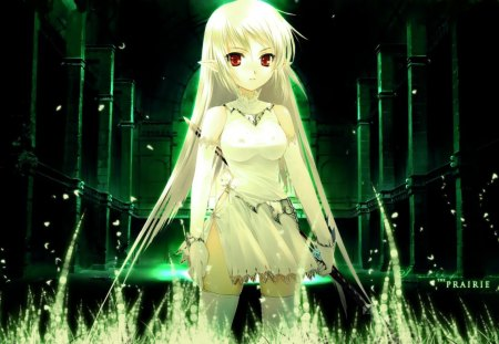 Green Vampire Anime Girl Other Anime Background Wallpapers On