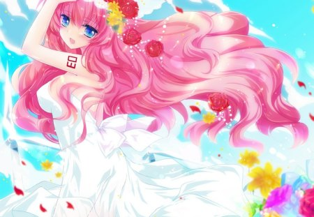 Pink Hair Bride Other Anime Background Wallpapers On Desktop