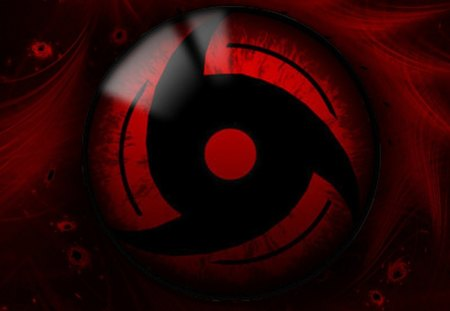 Mangekyou Sharingan - naruto shippuden, naruto, sharingan, symbol, anime, mangekyou sharingan, red background