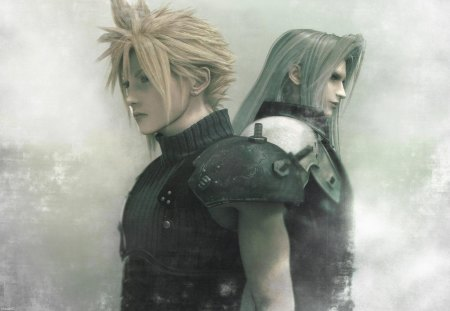 Cloud & Sephiroth - ff7, ffvii, games, cloud, male, final fantasy 7, cg, video games, final fantasy dissidia, final fantasy vii, cloud strife, anime, dissidia, sephiroth