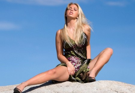 Sunny Day - hot, blonde, beautiful, woman