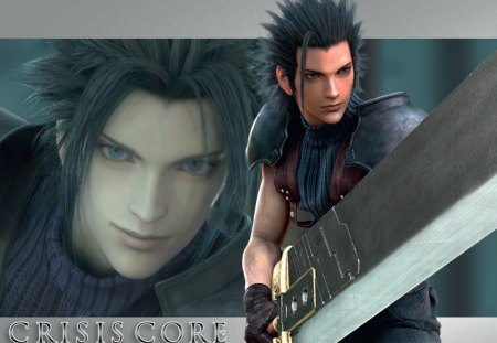 Zack Fair - ff7, ffvii, games, male, zack fair, final fantasy 7, video games, final fantasy vii, spiky hair, zack, weapon, crisis core, sword