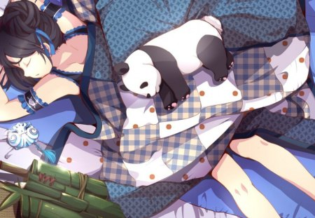 Sleepy Panda Anime Wallpapers And Images Desktop Nexus