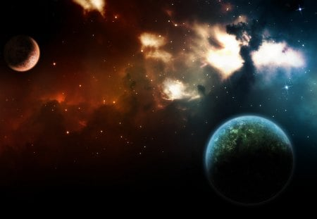 Deep Space Planets - outer space, Deep Space Planets, beautiful universe, outer space planets
