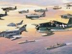 Fleet of Military Planes