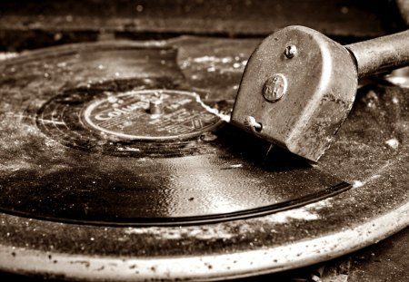 relic - music, relic, black, old, photography, wp, bw, white, record