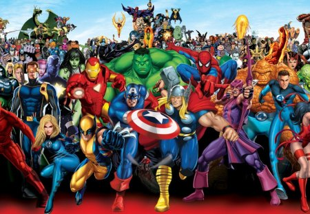 Marvel superheroes other entertainment background wallpapers on desktop nexus image 1372694 - Superhero background wallpaper ...