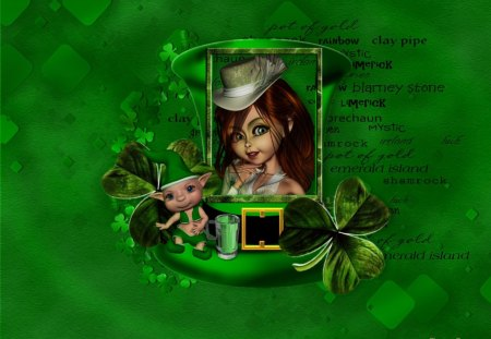 Irish Charm - irish, green, clover, st patricks day, charm, luck