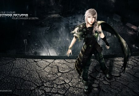 Lightning Returns - games, female, ff13, video games, lightning, claire farron, final fantasy xiii, ffxiii, lone, lightning farron, rain, Lightning Returns, final fantasy 13