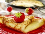 A Nice Strawberry Crepe