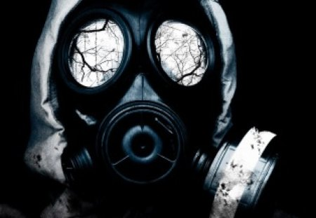 Dark gas mask - mask, gas