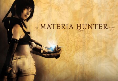 Materia Hunter - ff7, ffvii, games, female, final fantas 7, video games, advent children, yuffie, final fantasy vii, yuffie kisaragi, girl, shorts, anime, lone