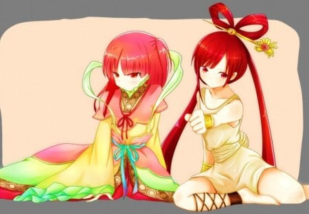 morgiana x kougyoku-hime - The Labyrinth of Magic, anime, morgiana, magi, kougyoku ren