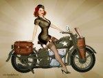 ★US Army Harley Pinup★