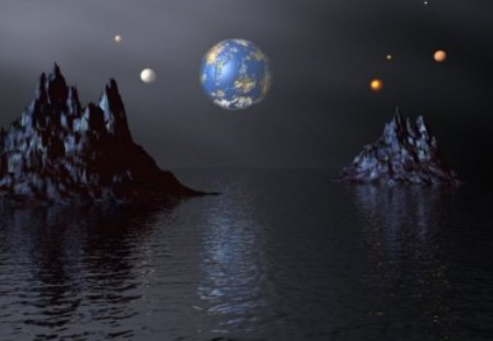 Distant World - fantasy world, fantasy planet, Distant World, distant planet, earth from space