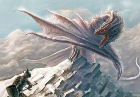 The White Dragon Fantasy Abstract Background Wallpapers On
