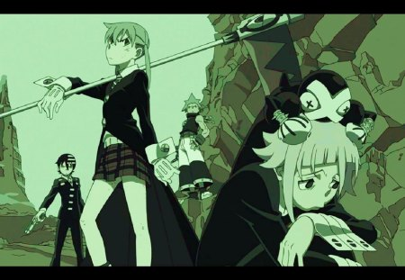 ending - soul eater, ending, maka, daeth the kid, blackstar