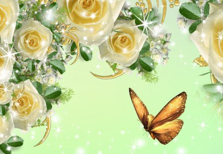 Yellow Roses Flowers Nature Background Wallpapers On Desktop