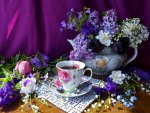 Tea with the scent of spring