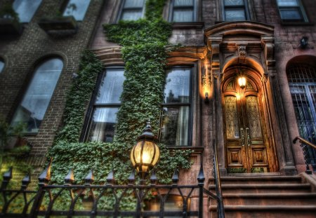 452 w 44th street nyc hdr houses architecture background