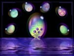 Easter Eggs In Bubbles 1600x1200