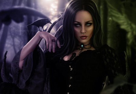 Goddess Of Darkness - gothic, goddess, darkness, dark, lady