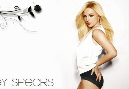 britney spears - body, flower, white, short, fashion