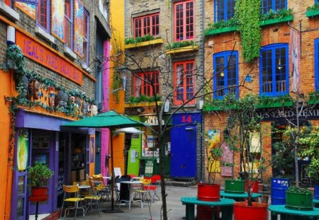 london - colorful, club, cafe, london