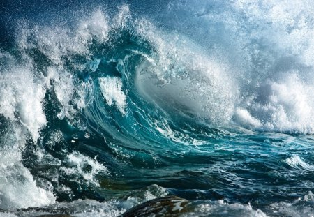 Giant wave - giant, wave, storm, amazing
