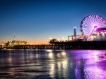fabulous pier amusement park in evening