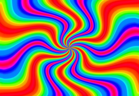 twister rainbow - art, vibes, minds, twist, druffix design, colors, rainbow, waves, abstract, psycho, mindteaser, optical confusion, illusion, flower power, chaos, confusion