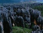 fantastic black rocky ridges